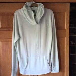 Light green Athleta hoodie.